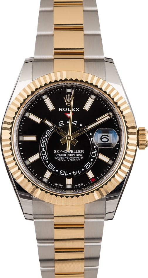 Pre Owned Rolex Sky-Dweller 326933 Black