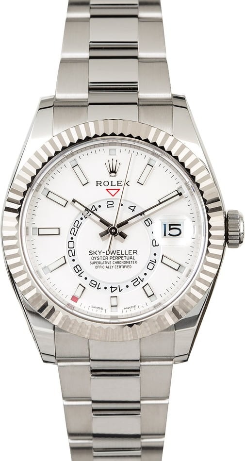Rolex Sky-Dweller 326934 White Luminous Index Dial