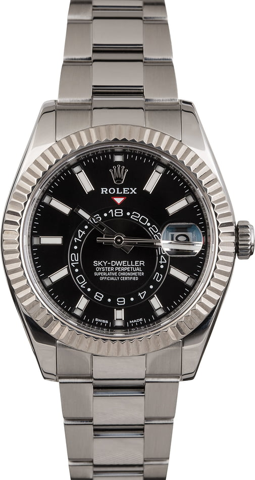Pre Owned Rolex Sky-Dweller 326934 Black Dial