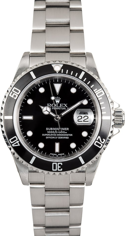 Rolex Stainless Oyster Perpetual 16610 Submariner