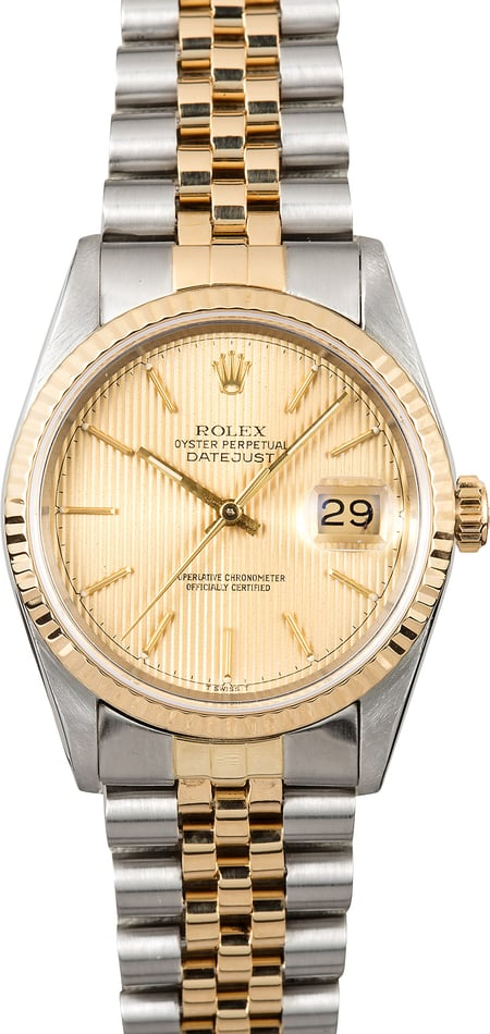 Rolex Steel & Gold Datejust 16233 Tapestry