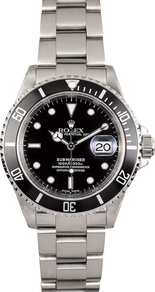 Rolex Steel 16610 Oyster Perpetual Submariner