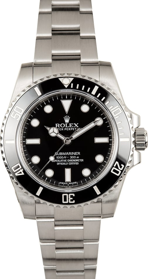 Rolex Ceramic Submariner 114060 Certified Pre-Owned