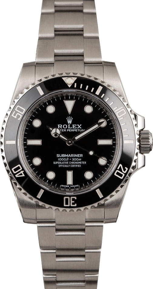 Pre Owned Rolex Submariner 114060 No Date Model