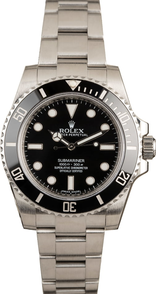 Men's Rolex Submariner 114060 Ceramic Bezel