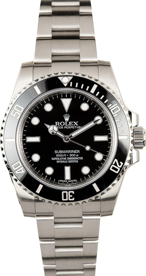 Rolex Submariner 114060 Ceramic No Date