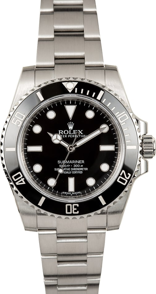 Rolex Submariner 114060 Ceramic No Date Model