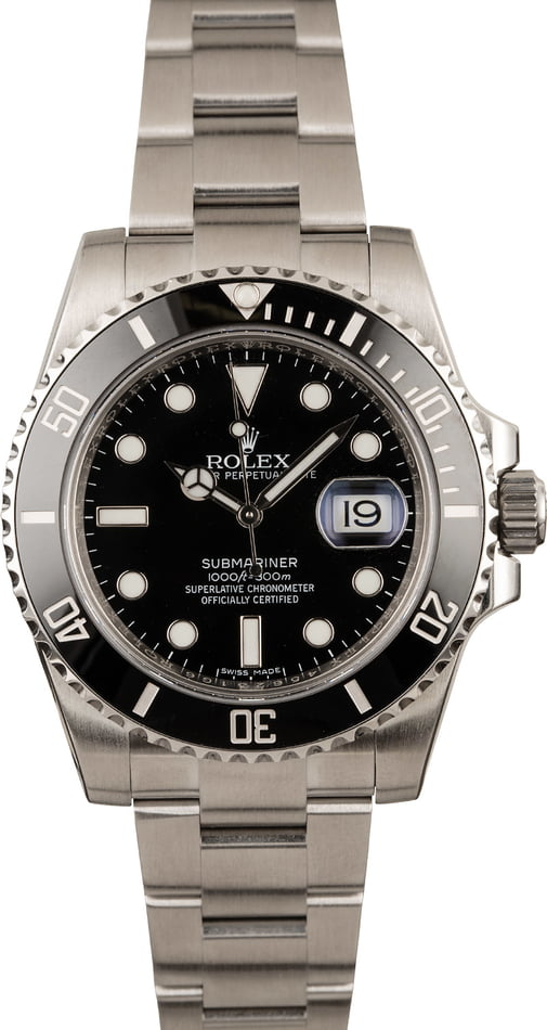 Pre-Owned Rolex Submariner 116610 Ceramic Bezel Men's Dive Watch