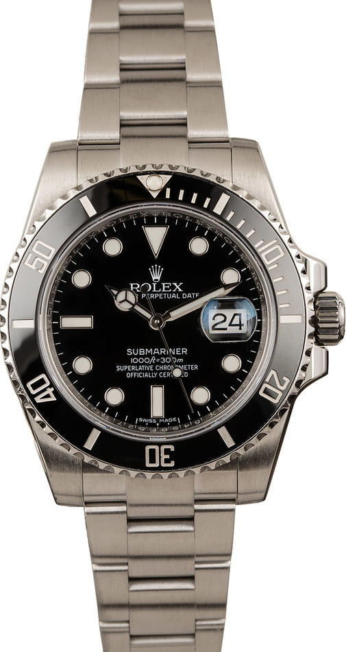 Pre-Owned Rolex Submariner 116610 Ceramic Bezel Stainless Steel