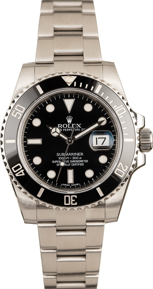 PreOwned Mens Rolex Submariner 116610 Black Ceramic Model