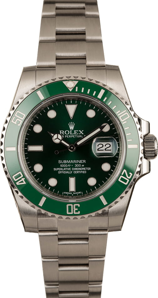 Unworn Rolex Submariner 116610V Hulk Model