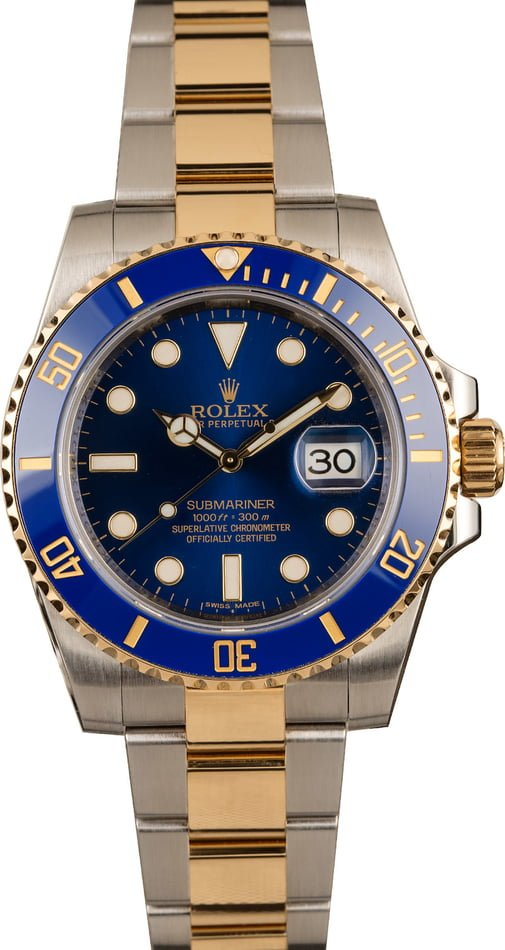 Rolex Submariner 116613 Steel and Gold Blue