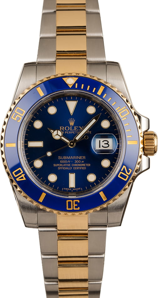 Pre Owned Rolex Submariner 116613 Two Tone T