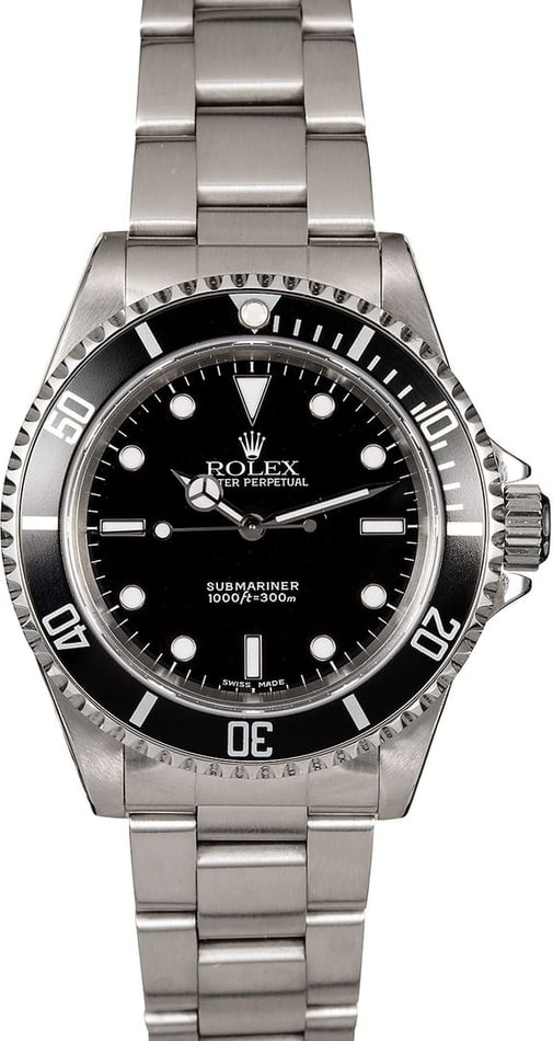 Black Rolex Submariner 14060 Men's Watch