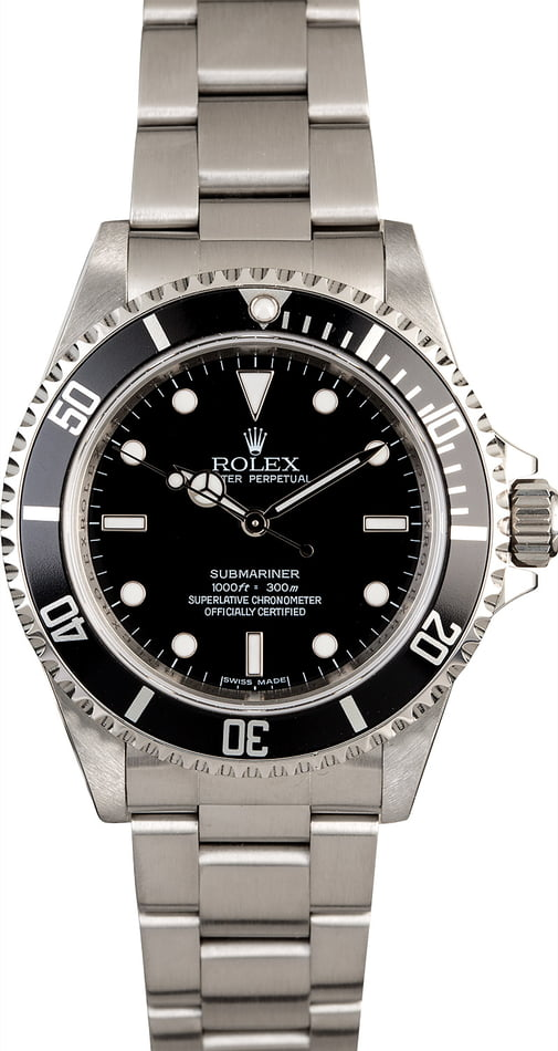 Certified Rolex Submariner 14060 Stainless Steel