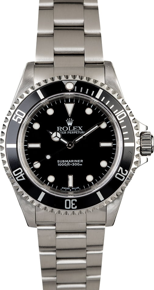 PreOwned Rolex Submariner 14060 Men's Diving Watch