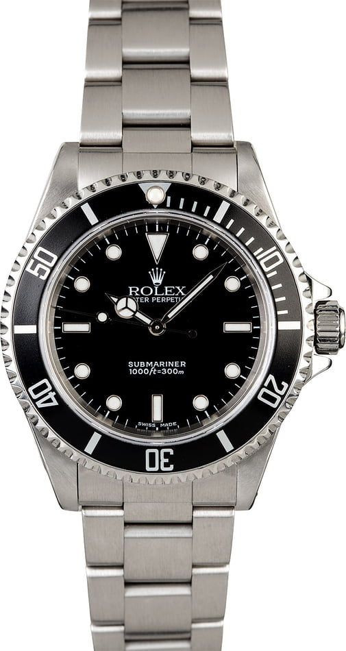 Rolex Submariner 14060 Black Dial with Steel Oyster