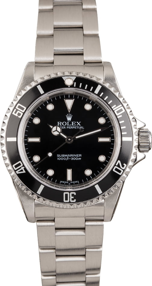Pre Owned Steel Rolex Submariner 14060M Black Dial 40MM