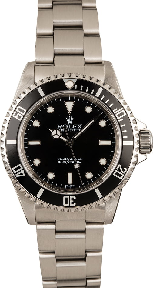 Pre-Owned Rolex Submariner 14060 Black Dial Watch T