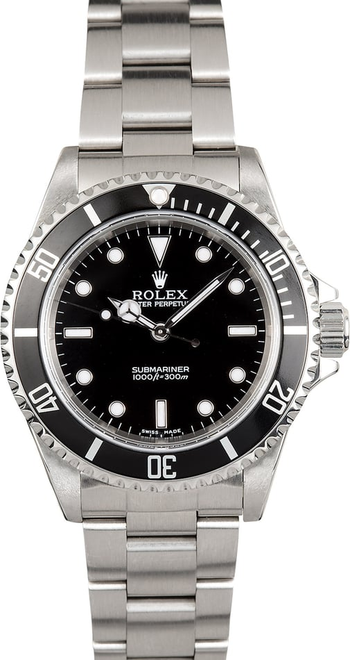 Rolex No Date Submariner 14060M Serial Engraved