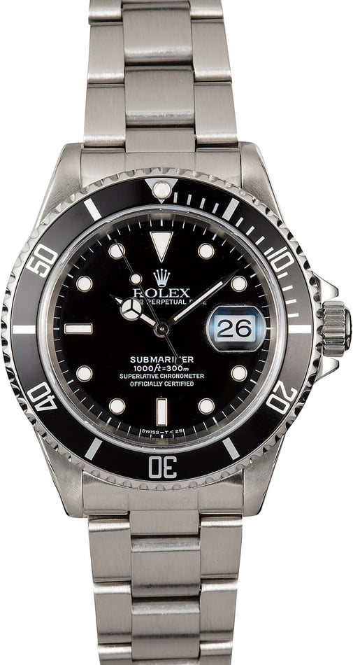 Submariner Rolex 16610 Men's Dive Watch