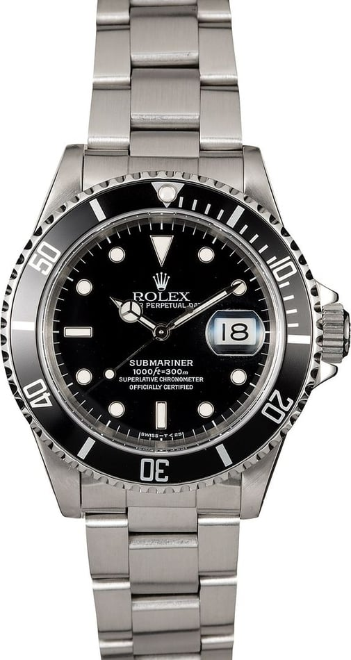 Authentic Black Rolex Submariner 16610