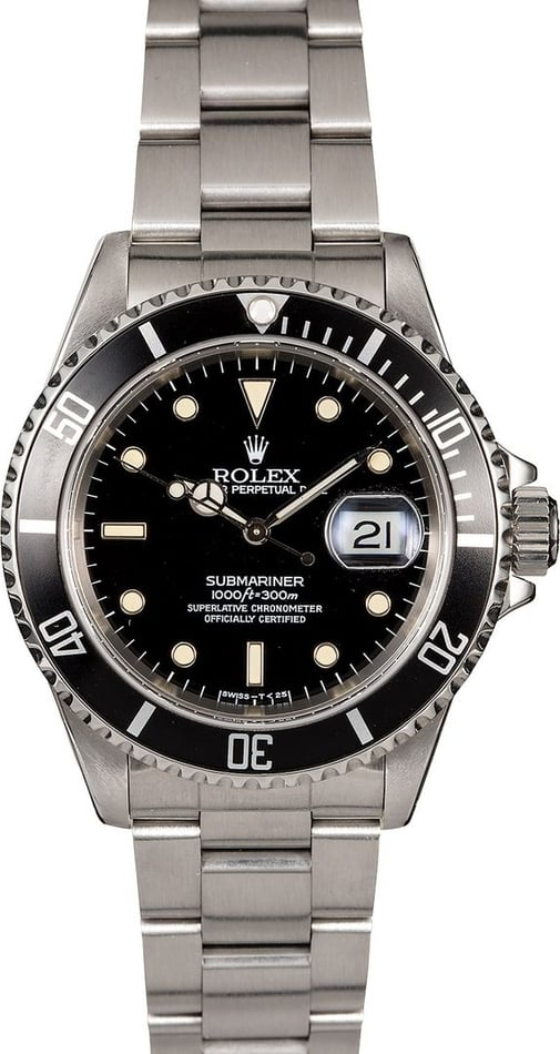 Men's Rolex Submariner 16610 Stainless Steel Oyster
