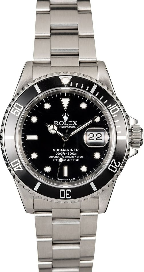 Black Rolex Submariner 16610 Steel Oyster