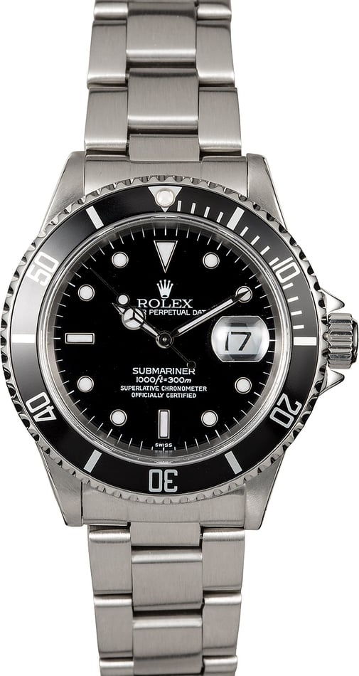Certified Pre-Owned Rolex Submariner 16610