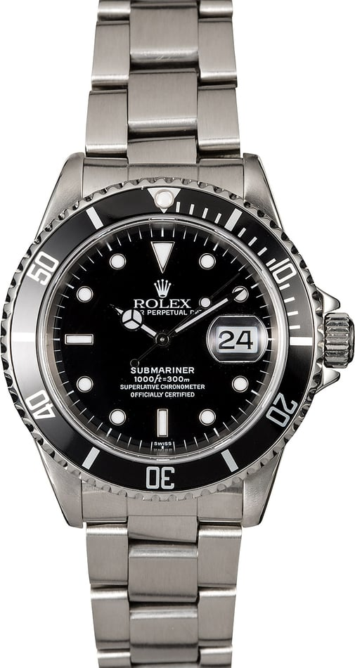 Rolex Submariner 16610 Black Diver's Bezel