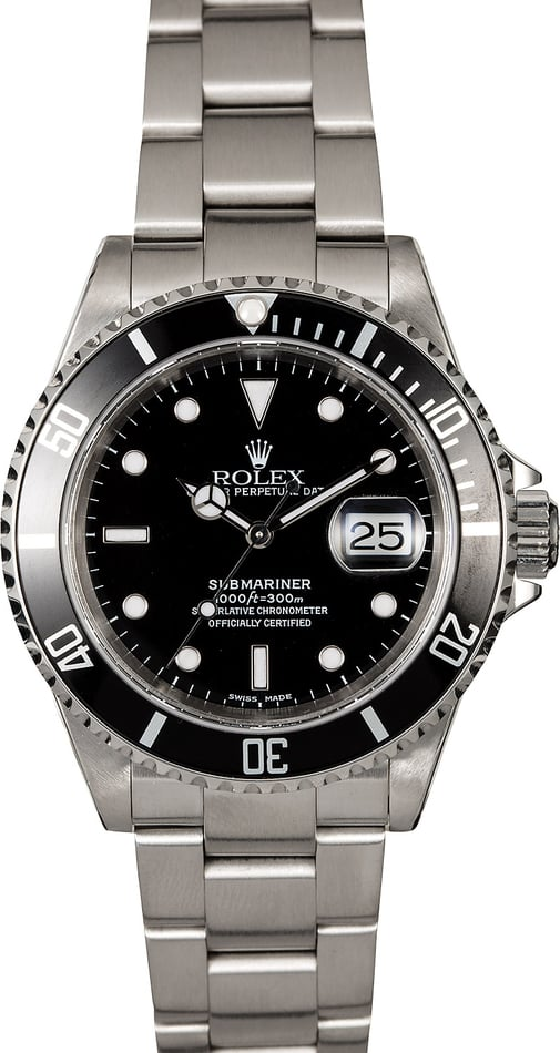 Rolex Submariner 16610 Black Dial Diver's Watch