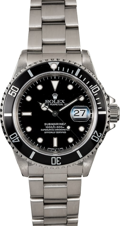 Rolex Submariner 16610 Stainless Steel Oyster Band