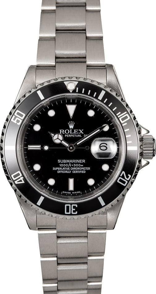 Pre-Owned Rolex Submariner 16610 Steel Oyster