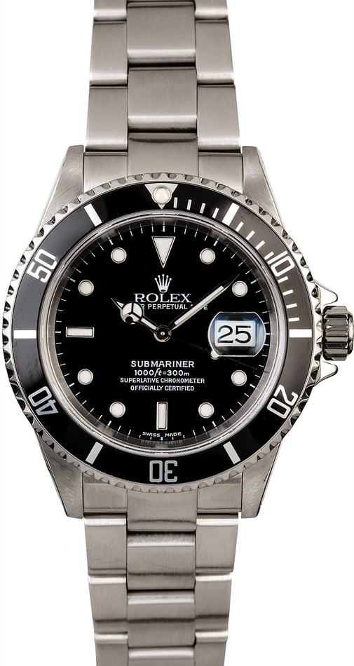 Men's Rolex Submariner 16610 Steel