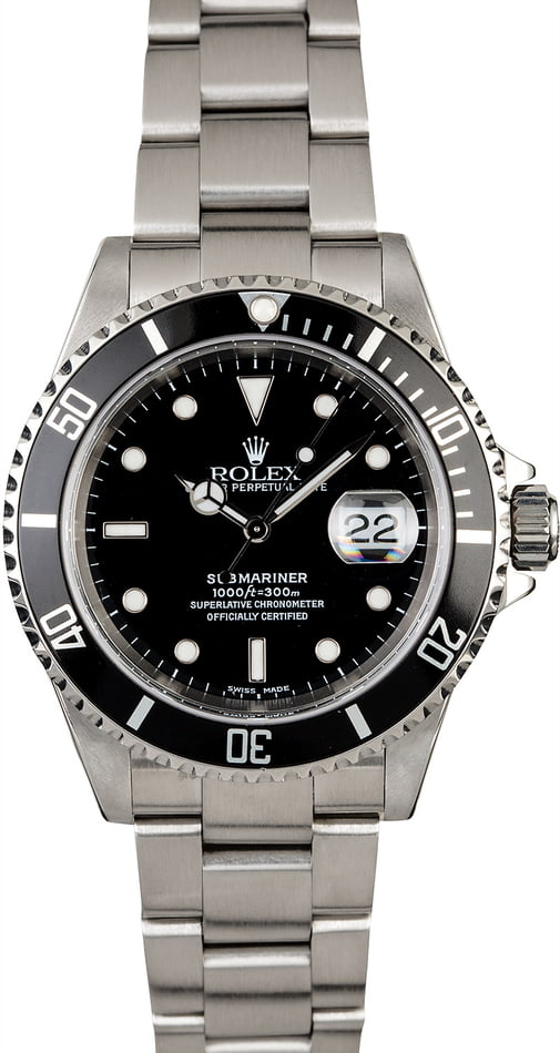 PreOwned Rolex Submariner 16610 Steel