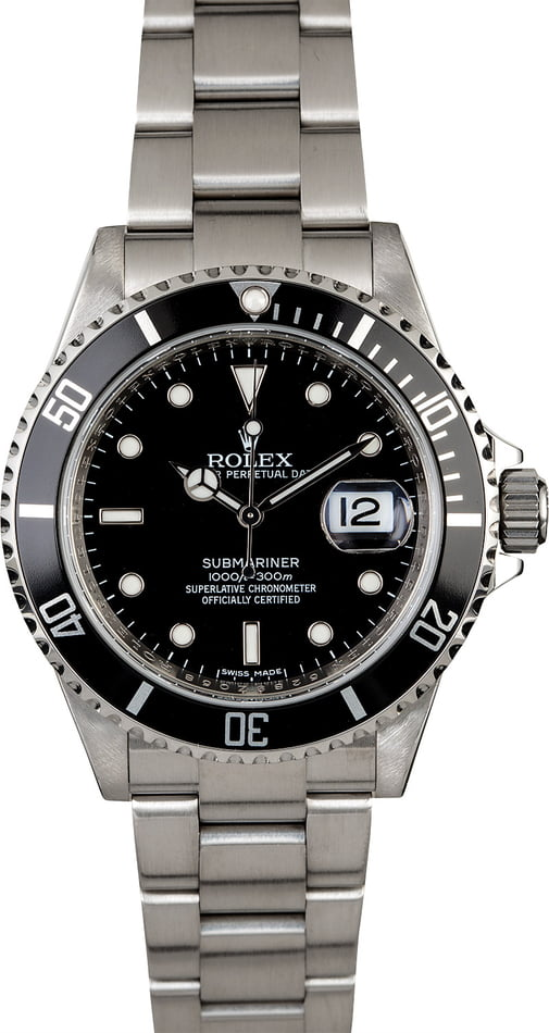 Certified Rolex Submariner 16610 Serial Engraved