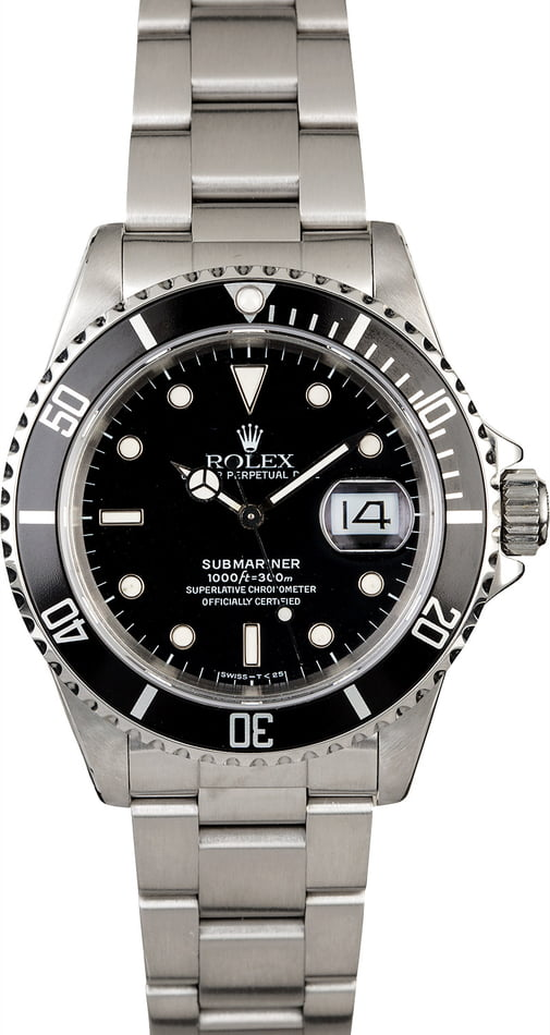 Rolex Submariner 16610 Black Timing Bezel
