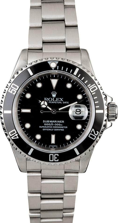 Men's PreOwned Rolex Submariner 16610 Steel Osyter Band