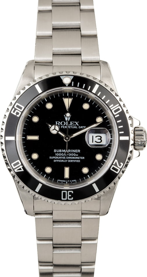 Pre-Owned Rolex Submariner 16610 Mens
