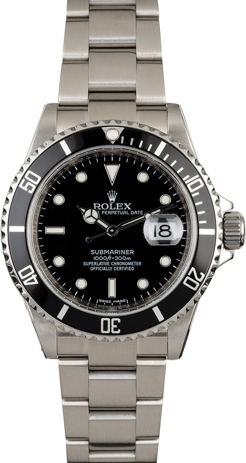 Rolex Submariner 16610T with Serial Engraved Rehaut