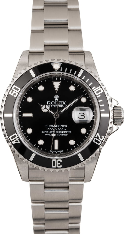 Unworn Rolex Stainless Steel Submariner 16610