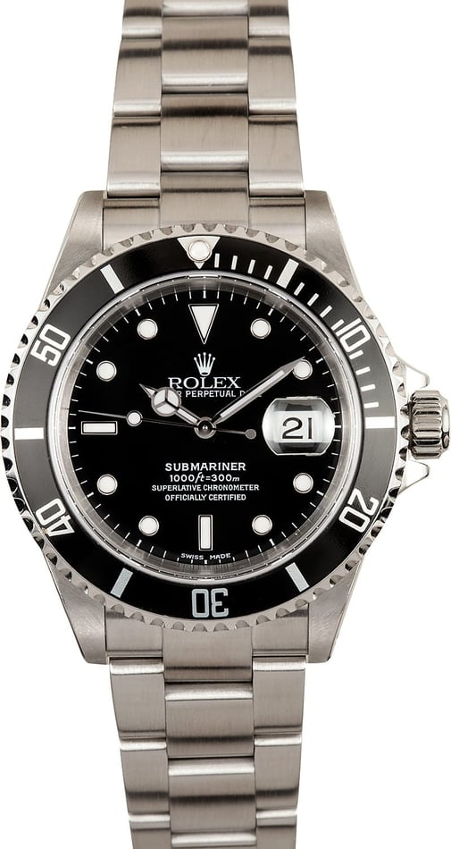 Submariner Rolex Black 16610 X