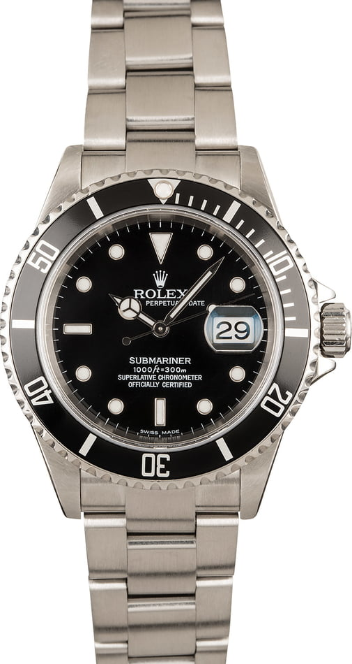 Rolex Submariner 16610 No Holes Case