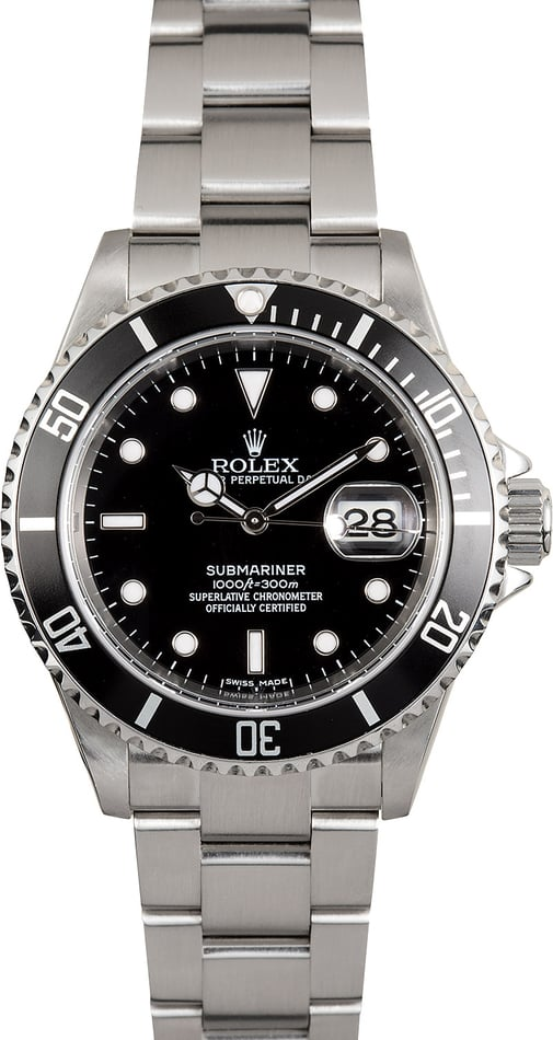 Rolex Submariner 16610 Black Dial Certified Pre Owned