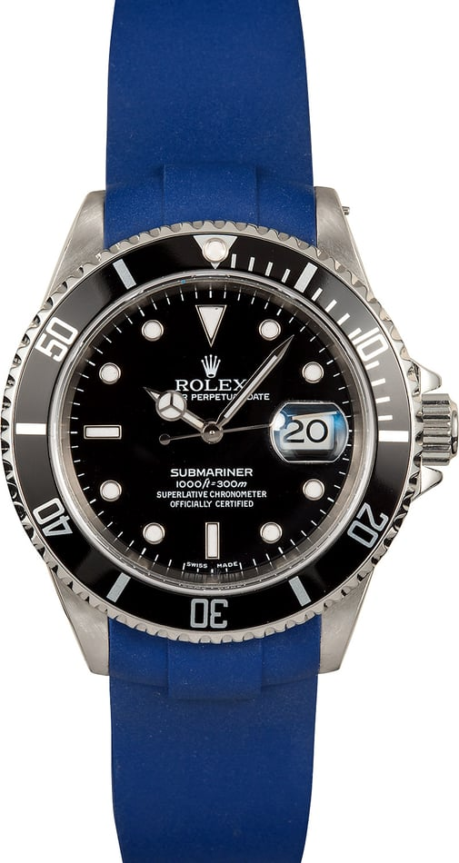 Rolex Submariner 16610 Rubber Strap