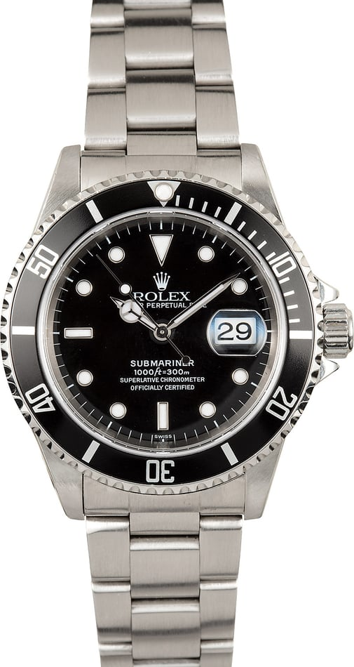 Rolex Oyster Perpetual Submariner 16610 Stainless Steel