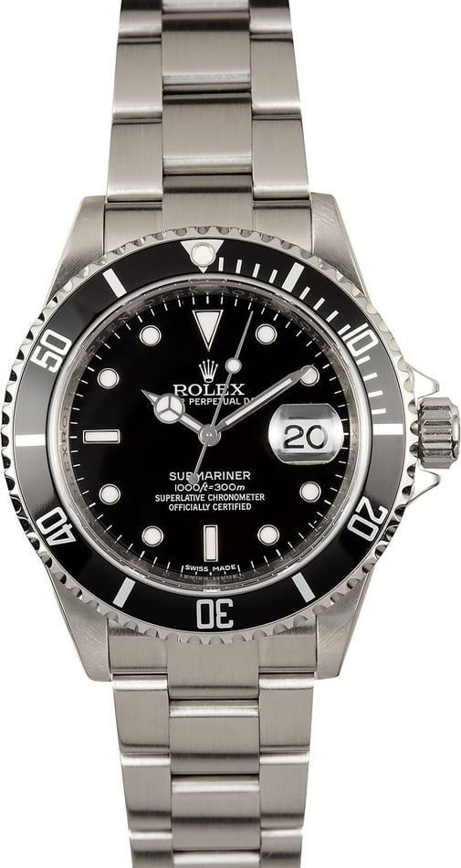Rolex Submariner 16610 Steel Serial Engraved