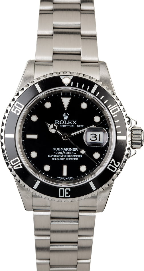Used Rolex Submariner 16610T Diving Watch