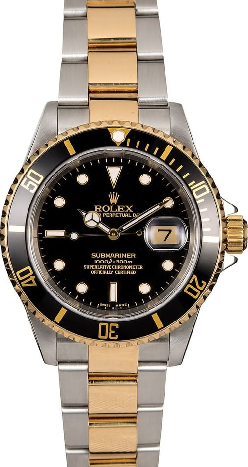 Men's Rolex Submariner 16613 Two-Tone Oyster