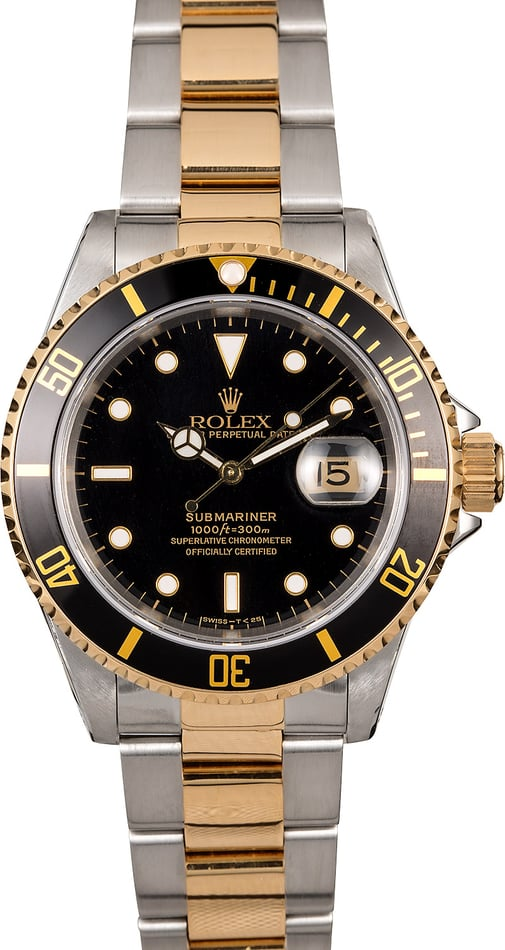 115627 Men's Rolex Submariner 16613 Two-Tone